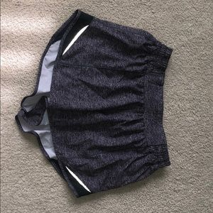 women's gray lululemon shorts